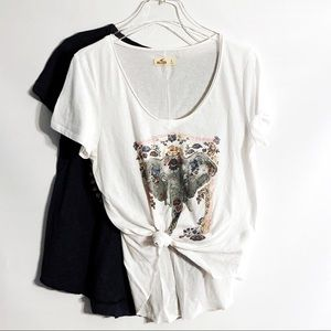 Hollister Elephant Graphic Tee Bundle